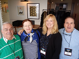 Betsy Bush, VCB, second from right, at Luxury Meetings Summit.