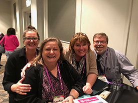 Candice Cocco, VCB, second from left, at Boomers in Groups Travel Conference.